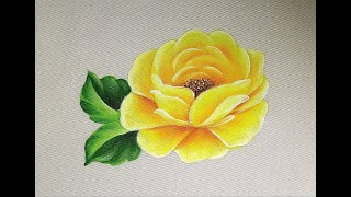 How To Paint A Rose / Painting For Beginners