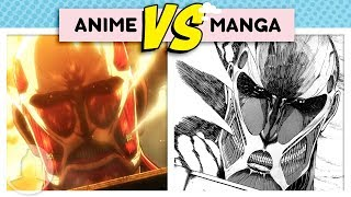 Attack on Titan Differences Anime Vs. Manga - Fall of Shiganshina Arc  | Channel Frederator