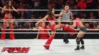 Natalya, Brie Bella, Nikki Bella, Cameron & Naomi vs. AJ Lee, Aksana, Layla, Alicia Fox & Tamina: Ra