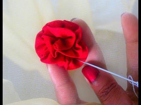 Twril Flower making for Designer Sari Lace, Necklines, Dupatta's Edging , Decorative Flowers DIY