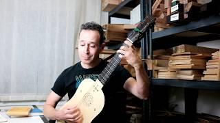 "Israel Golani playing Marco Dall'Aquila's ""La Traditora""on a vihuela made by Alfonso Marin"