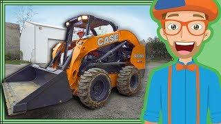 Skid Steer with Blippi | Construction Trucks for Kids