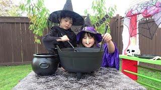 魔女の料理 脳みそ スープ & 目玉入りビール こうくんねみちゃん Halloween Cuisine of witch Brains