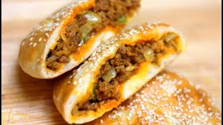 خبز الكيزر بحشوة مميزة - Kaiser Roll Beef stuffing