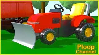 Kids 3D Construction - Building TRUCK & BULLDOZER! - Truck Cartoons Compilation to Learn to Count