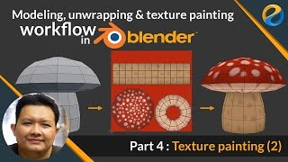 Modeling, Unwrapping and Texture painting workflow in Blender | Part 4 : Texture painting 2