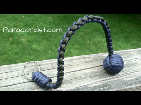 Paracordist how to tie the snake knot and crown knot to finish the paracord Battering Ram lanyard