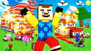 Minecraft - HELLO NEIGHBOR - EXPLODING NEIGHBOR w/ TNT?