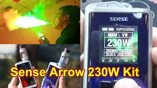 Sense Arrow 230W TC Kit | Did you ever see colorful vapor? | | Herakles lll Sub Tank