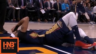 Anthony Davis Serious Injury / Pelicans vs Jazz
