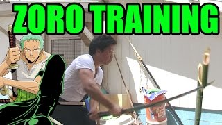 Roronoa Zoro IRL (IN REAL LIFE) - Cutting Bamboo - ONE PIECE LIVE ACTION