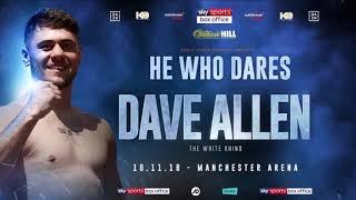 BREAKING NEWS: DAVE ALLEN CONFIRMED FOR USYK vs BELLEW CARD!!
