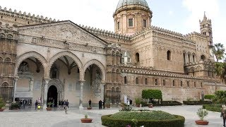 Sicily, Italy. A Walk Outside and Inside The Cathedral of Palermo