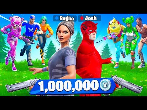 Bugha vs My Little Brother for 1 000 000 VBucks Battle Royale Challenge