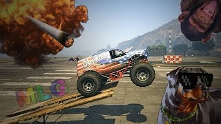 CRAZY MONSTER TRUCK CHALLENGE (GTA 5 Funny Moments)