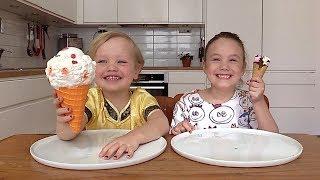 Jumbo Squishy vs Mat CHALLENGE Squishy Food vs Real Food