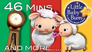 Hickory Dickory Dock | Part 2 | Plus More Nursery Rhymes | 46 Mins Compilation from LittleBabyBum!