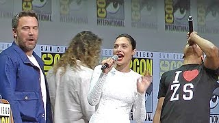Justice League panel - Jason Momoa & Gal Gadot