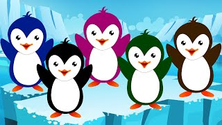 Five Little Penguins | Nursery Rhyme And Kids Songs