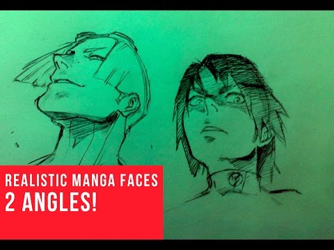 How To Draw Manga Face: 2 Different Angles [Ant's Eye View]