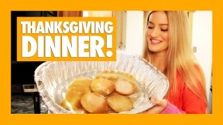 How to Make a Simple Thanksgiving Dinner | iJustine Cooking