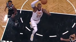 """""""LEBRON JAMES WITH A MONSTER DUNK"""" AT BROOKLYN TODAY,CAVS VS NETS"""