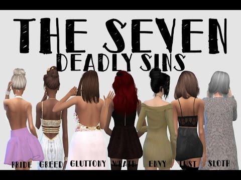 The Seven Deadly Sins Sims 4 CAS