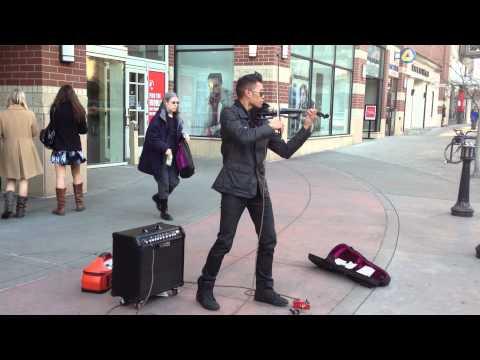Downtown Spokane Street Musician Bryson Andres