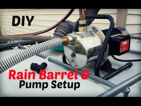 DIY Rain Barrel and Pump Setup