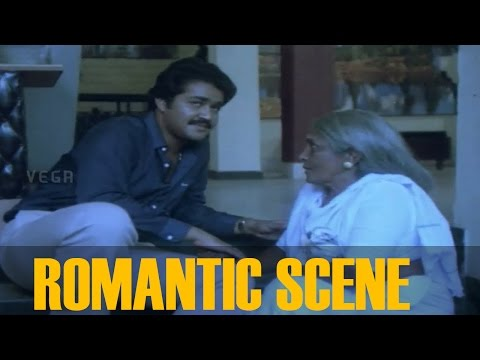 Mohanlal and Shobana Romantic Scene ||  Avidethe pole Evideyum