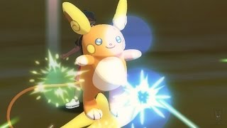 Pokemon Sun and Moon Wi-Fi Battle: Alolan Raichu Rides Waves! (1080p)