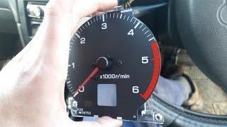 Broken RPM Tachometer gauge repair - Nissan Terrano
