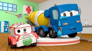 Christopher the Concrete Mixer has a problem :( - Amber the Ambulance in Car City l Cartoons