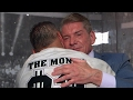 Shane and Mr. McMahon's emotional embrace backstage after WrestleMania, only on WWE Network