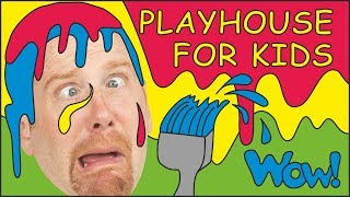 Playhouse for Kids + MORE English Stories for Children from Steve and Maggie | Learn Wow English TV