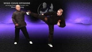 Wing Chun wing chun kung fu basic use off the leg - Episode 7