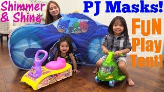 PJ Masks Cat Car Playtent Playtime Fun! PJ Masks Ride-On Toy, Shimmer and Shine. Toy Channel