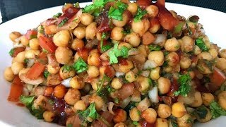 Cooked Channa Chaat with Meethi Chutney (iftar recipe)