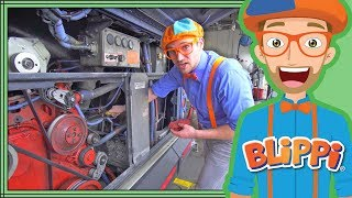 Busses for Children with Blippi | The Blippi Bus Song for Kids