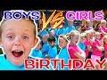 Download Video Download BOYS vs GIRLS! Kadens Birthday Party Challenge! Kids Fun TV 3GP MP4 FLV