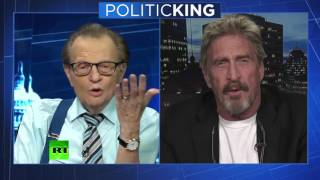 McAfee on Russian Hacking and Cyber Security (RT Larry King)