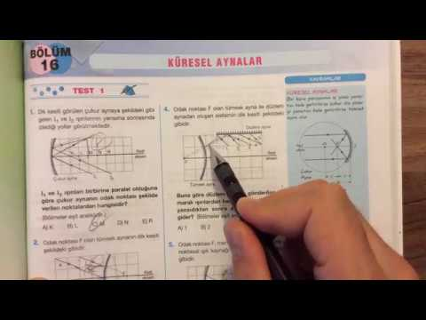 Palme Fizik - Optik - Küresel Aynalar - Test 1