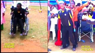 The Healing of Sammy Nziu walks from wheelchair live on camera