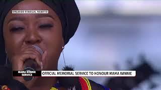 Brenda Mtambo performs 'Thina Sizwe' at Winnie Mandela Memorial