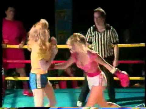 Dixie Godiva from GLOW vs Wendy Melinda Armstrong Wrestling Vs Boxing Match.