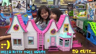 Cute Toys for Little Girls: Hello Kitty & Friends Doll House Unboxing and Playtime w/ the Kids