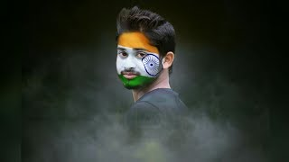 Flage Paint on Face Manipulation | PicsArt Editing Tutorial Independence Day