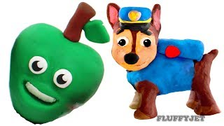 Toy Videos For Children Paw Patrol Chase Saves Apple 💙 Spiderman Play Doh Cartoon Stop Motion