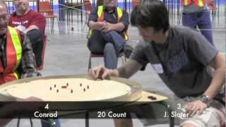 2012 World Crokinole Championships Finals - Conrad v Slater 4/4