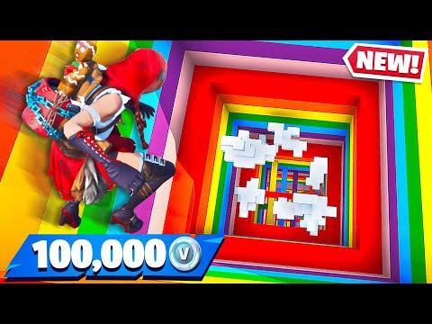 Little Brother Gets 100K Vbucks if He Wins Fortnite Rainbow Dropper